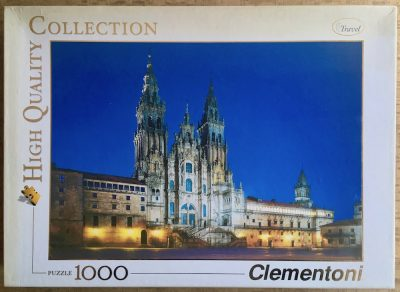 Image of the puzzle 1000, Clementoni, Santiago de Compostela, Catedral, Complete, Picture of the box