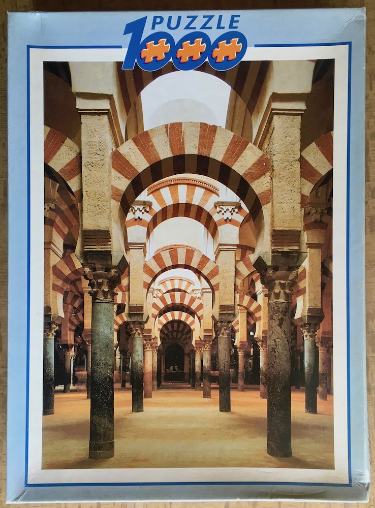 Image of the puzzle 1000, Educa, La Mezquita, Cordova, Spain, Complete, Picture of the box
