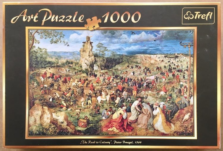 1000, Trefl, The Road to Calvary, Pieter Bruegel the Elder, Complete, Picture of the box