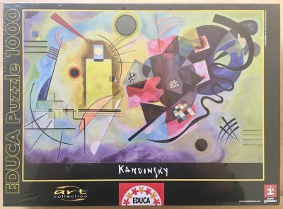 Image of the puzzle 1000, Educa, Yellow Red Blue, by Wassily Kandinsky, Factory Sealed