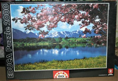 Image of the puzzle 2000, Educa, Spring Landscape, Factory Sealed