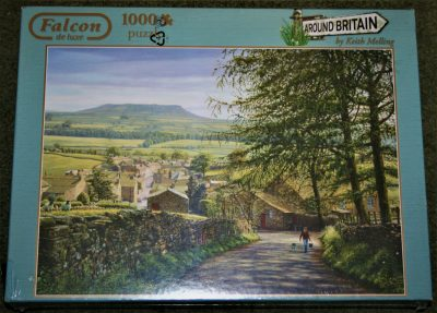 Image of the puzzle 1000, Falcon, Askrigg, Wensleydale, by Keith Melling, Factory Sealed, Picture of the box