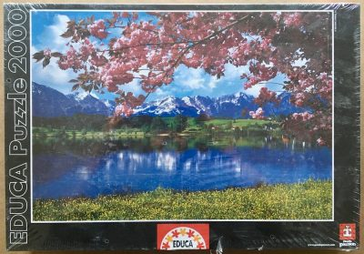 Image of the puzzle 2000, Educa, Spring Landscape, Factory Sealed, Picture of the box