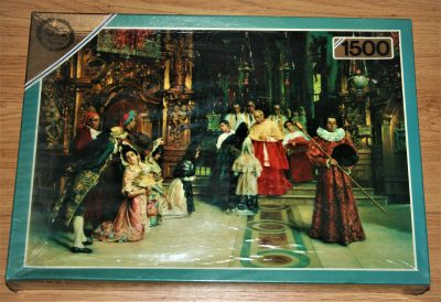Image of the puzzle 1500, Falcon, A Blessing from his Eminence, by Salvador Viniegra, Factory Sealed, Picture of the box