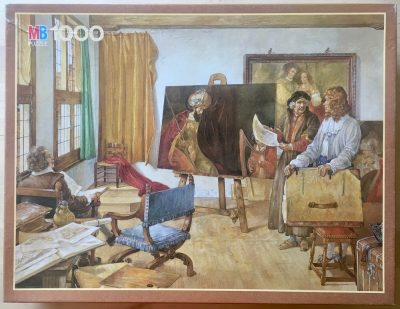 Image of the puzzle 1000, MB, Rembrandts Studio 1665, by Johan Herman Isings, Sealed Bag, Picture of the box