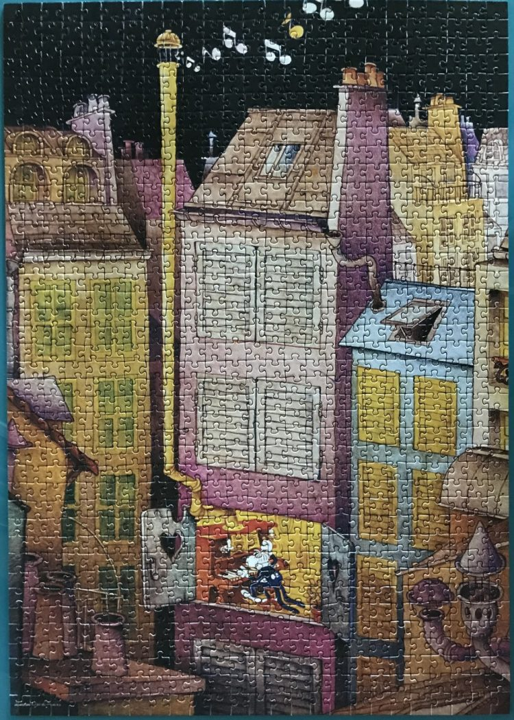 Image of the puzzle 1000, Heye, Piano, by Guillermo Mordillo, Complete, Picture of the puzzle assembled