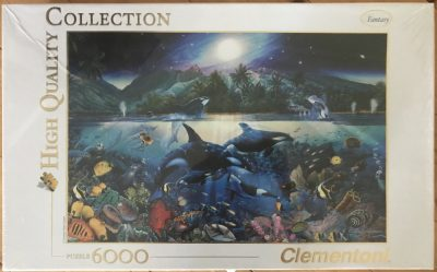 Image of the puzzle 6000, Clementoni, Majestic Kingdom, by Christian Riese Lassen, Factory Sealed, Picture of the box