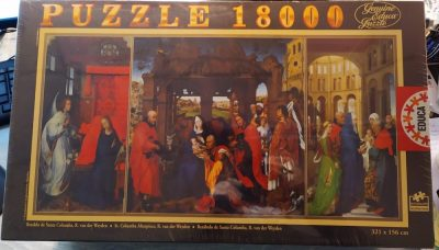 Image of the puzzle 18000, Educa, St. Columba Altarpiece, by Rogier van der Weyden, Factory Sealed