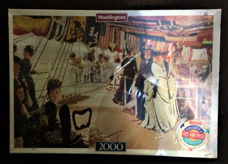 Image of the puzzle 2000, Waddingtons, The Ball on Shipboard, by James Tissot. Factory Sealed