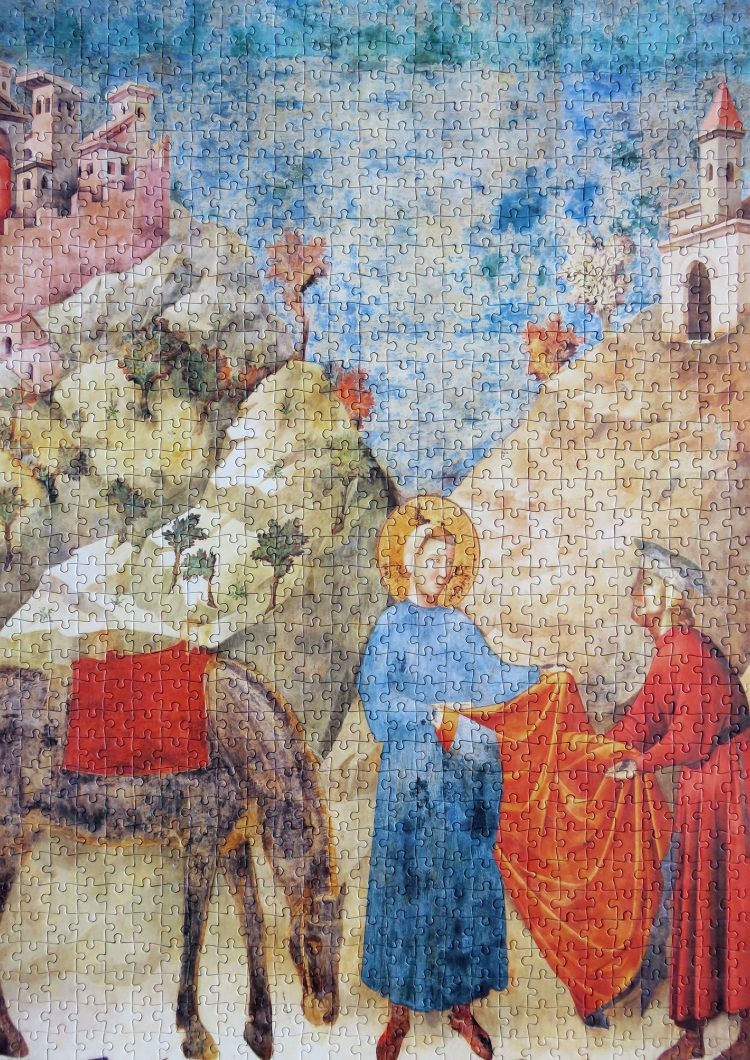 Image of the puzzle 1000, Clementoni, Saint Francis Giving His Mantle to a Poor Man, by Giotto, Picture of the puzzle complete