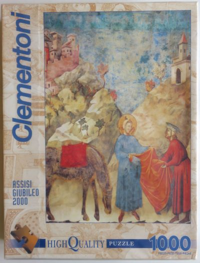Image of the puzzle 1000, Clementoni, Saint Francis Giving His Mantle to a Poor Man, by Giotto, Picture of the box