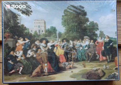 Image of the puzzle 3000, Jumbo, Outdoor Party, Dirck Hals, Factory Sealed, Picture of the box