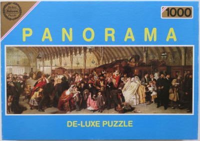 Image of the puzzle 1000, Falcon, The Railway Station, by William Frith, Complete, Picture of the box