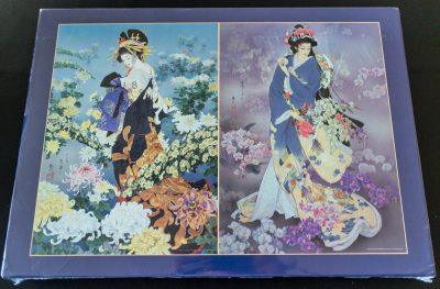 Image of the puzzle 2x1000, Express Gifts, Flowers of the Orient, by Haruyo Morita, Factory Sealed, Listed by Maya