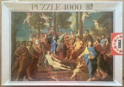 Image of the puzzle 4000, Educa, Le Parnasse, by Nicolas Poussin, Factory Sealed, Picture of the box