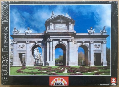 Image of the puzzle 1000, Educa, The Alcalá Gate, Madrid, Spain, Factory Sealed