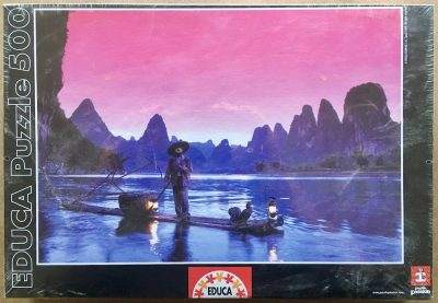 Image of the puzzle 500, Educa, Fishing on the Li River, China