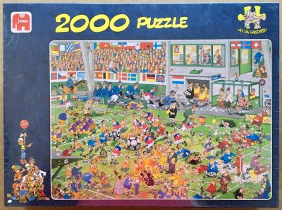 Image of the puzzle 2000, Jumbo, Championship Football, by Jan van Haasteren, Factory Sealed