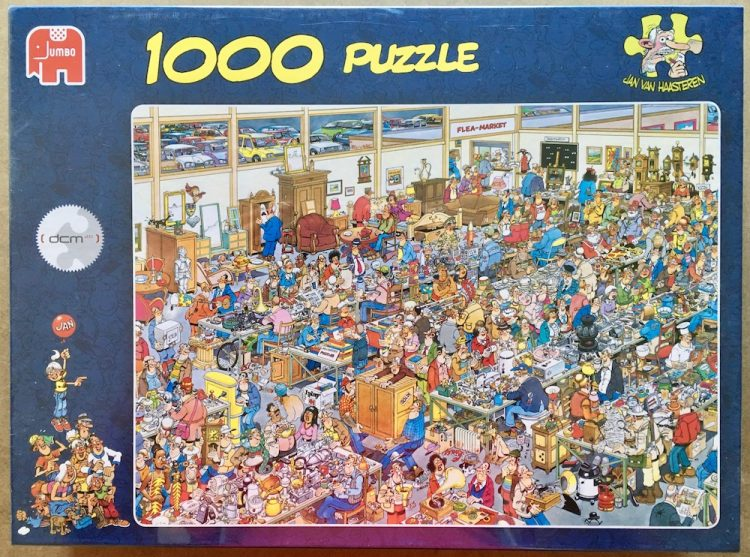 Image of the puzzle 1000, Jumbo, The Antique Show, by Jan van Haasteren, Factory Sealed