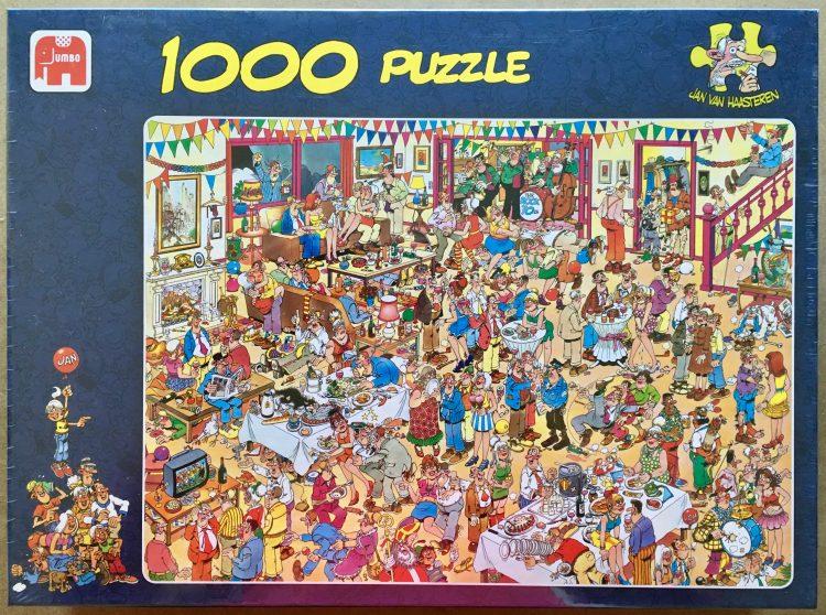 Image of the puzzle 1000, Jumbo, Happy Birthday, by Jan van Haasteren, Factory Sealed