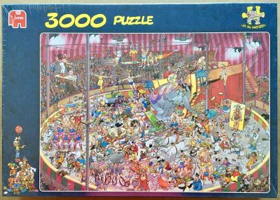 Image of the puzzle 3000, Jumbo, The Circus, by Jan van Haasteren, Factory Sealed