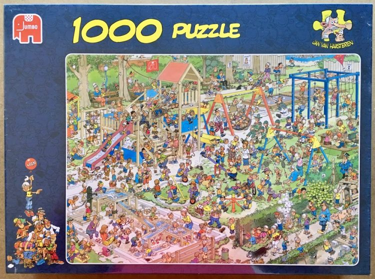 Image of the puzzle 1000, Jumbo, The Playground, by Jan van Haasteren, Factory Sealed