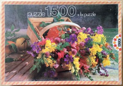 Image of the puzzle 1500, Educa, Wild Flowers, Complete, Picture of the box