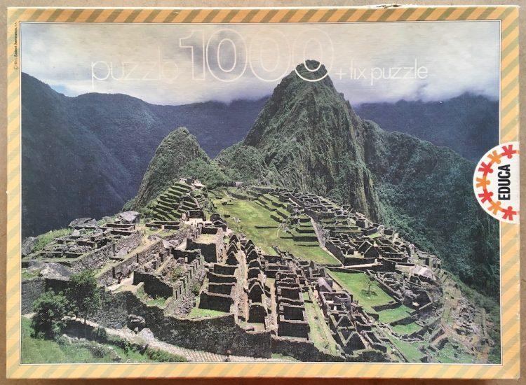Image of the puzzle 1000, Educa, Machu Picchu, Peru, Complete, Picture of the box