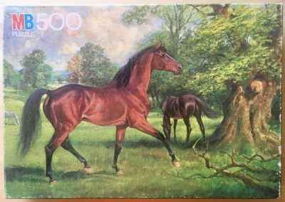 Image of the puzzle 500, MB, Stallion, Unknown Artist, Complete, Picture of the box