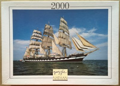 Image of the puzzle 2000, Nathan, The Three-Master, Sealed Bag, Picture of the box