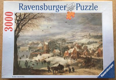 Image of the puzzle 3000, Ravensburger, Winter Landscape, by Joos de Momper & Jan Brueghel the Elder, Factory Sealed
