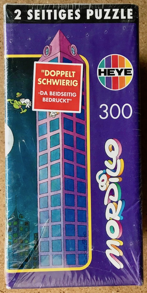 300, Heye, 2 Sided Puzzle (8261), by Guillermo Mordillo, Factory Sealed, Picture of the box