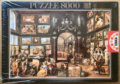 Image of the puzzle 8000, Educa, Alexander the Great visiting the Studio of Apelles, by Willem van Haecht, Factory Sealed