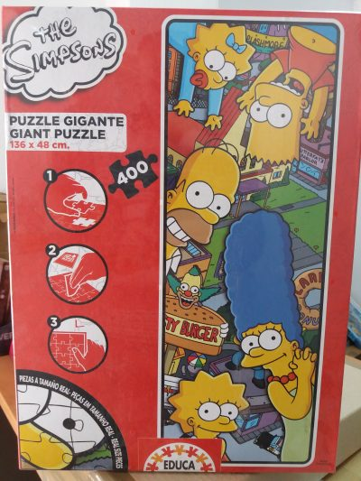 Image of the puzzle 400, Educa, The Simpsons, by Matt Groening, Factory Sealed