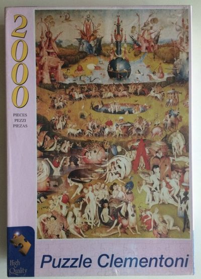 Image of the puzzle 2000, Clementoni, The Garden of Earthly Delights, by Bosch, Factory Sealed, Picture of the box
