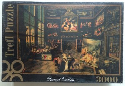 Image of the puzzle 3000, Trefl, Interior of a Collector's Gallery of Paintings..., by Cornelis de Baellieur, Factory Sealed, Listed by Olga