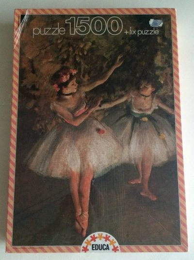 Image of the puzzle 1500, Educa, Two Dancers, by Edgar Degas, Factory Sealed, Picture of the box
