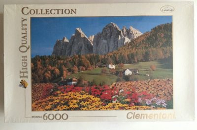 Image of the puzzle 6000, Clementoni, Dolomites, Factory Sealed, Picture of the box