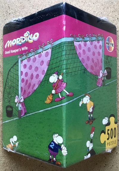 Image of the puzzle 500, Heye, Goal Keepers Wife, by Guillermo Mordillo, Factory Sealed