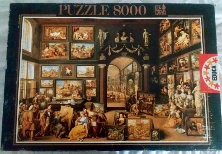 Image of the puzzle 8000, Educa, Alexander the Great visiting the Studio of Apelles, by Willem van Haecht, Sealed Bag, Picture of the box