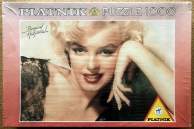 Image of the puzzle 1000, Piatnik, Marilyn Black Lace II Color, by Bruno Bernard, Factory Sealed