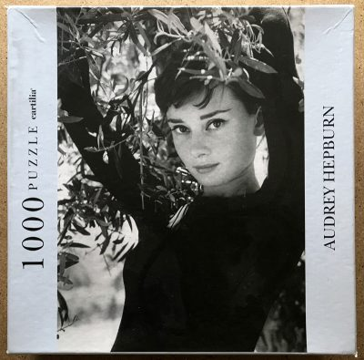 Image of the puzzle 1000, Cartilia, Audrey Hepburn, by Philippe Halsman, Sealed Bag, Picture of the box
