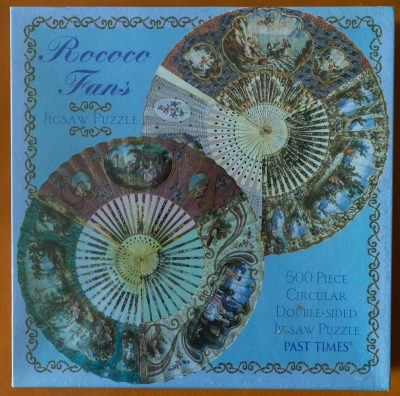 Image of the puzzle 500, Past Times, Rococo Fans, Factory Sealed