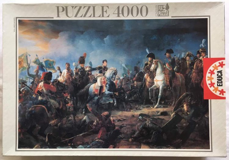 Image of the puzzle Image of the puzzle 4000, Educa, The Battle of Austerlitz, by François Gérard, Sealed Bag, Picture of the box
