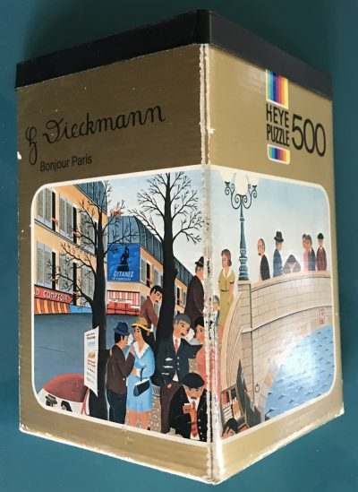 Image of the puzzle 500, Heye, Bonjour Paris, by Henry Dieckmann, Complete, Picture of the box