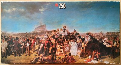 750, Jumbo, Derby Day, by William Frith, Complete, Listed by Jorge, Picture of the box