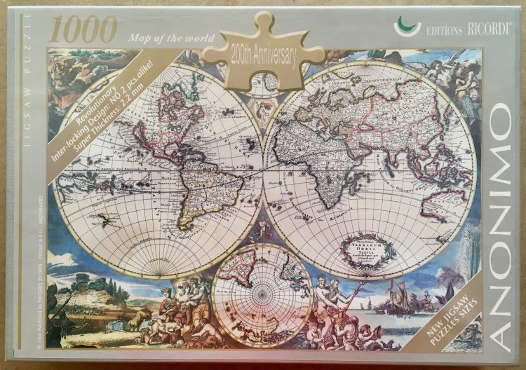 Image of the puzzle 1000, Ricordi, Map of the World, by Anonymous, Factory Sealed