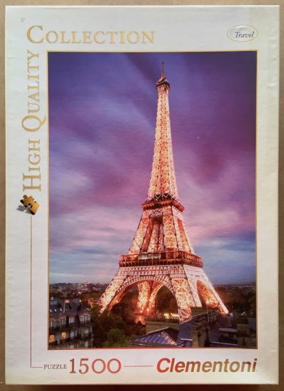 Image of the puzzle 1500, Clementoni, Paris, Complete, Picture of the box