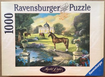 Image of the puzzle 1000, Ravensburger, Idyllic Park, by Wolfgang Scheit, Complete, Picture of the box