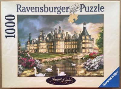 Image of the puzzle 1000, Ravensburger, Charming Château de Chambord, by Wolfgang Scheit, Complete, Picture of the box